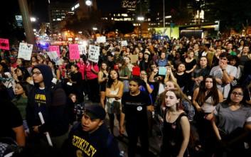 Συνεχίζονται οι διαδηλώσεις κατά του Τραμπ