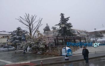 Η επέλαση του χιονιά στη Βόρεια Ελλάδα