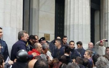 Ένταση μεταξύ αστυνομικών και διαδηλωτών στην Θεσσαλονίκη
