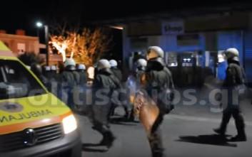 Άγρια νύχτα στη Χίο με μαινόμενους Αφρικανούς μετανάστες
