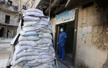 Βαρέλια με αέριο χλωρίου φαίνεται πως έπεσαν στο Χαλέπι