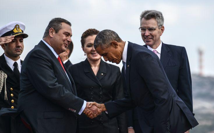 Μεγαλεία για τον Καμμένο, «υποκλίθηκε» ο Ομπάμα