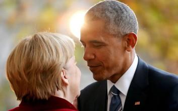 «Αφωνία» Ομπάμα - Μέρκελ για το χρέος