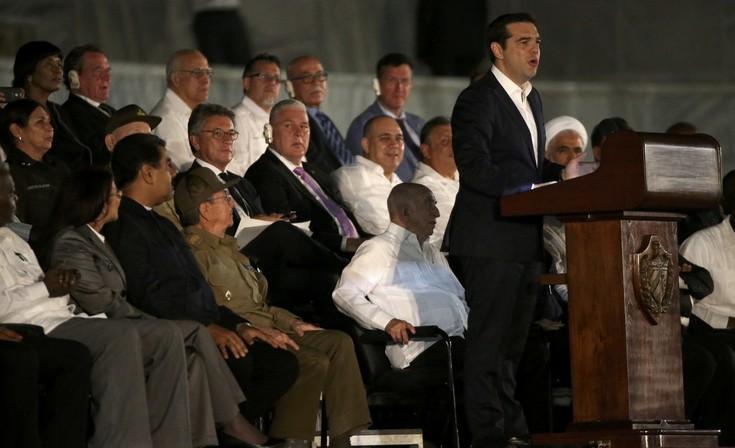 Ο Τσίπρας στην Κούβα για το αντίο στον «Κομαντάτε» Φιντέλ