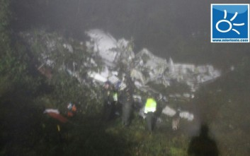 Διασώθηκαν τρεις ποδοσφαιριστές από τη συντριβή του αεροσκάφους στην Κολομβία