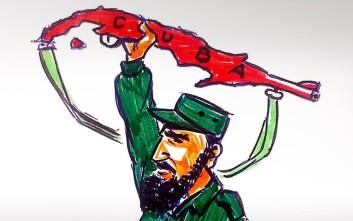 Σκιτσογράφοι από όλο τον κόσμο «αποχαιρετούν» τον Φιντέλ Κάστρο