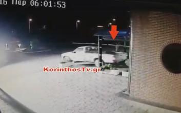 «Εισέβαλαν» με αγροτικό σε κατάστημα για να κλέψουν την ταμειακή στον Ισθμό της Κορίνθου