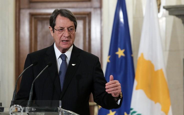 Ο Αναστασιάδης ενημερώνει το Εθνικό Συμβούλιο για τις διαπραγματεύσεις στο Κυπριακό