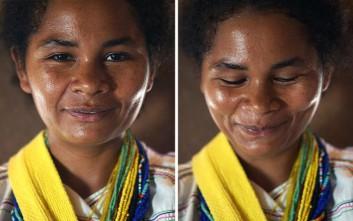 Γυναικεία πρόσωπα πριν και μετά το «είσαι τόσο όμορφη!»