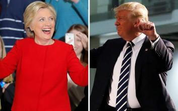 Τι είπαν Κλίντον και Τραμπ λίγες ώρες πριν ανοίξουν οι κάλπες