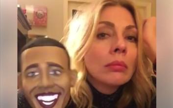 Η «συνάντηση» της Σμαράγδας Καρύδη με τον Μπαράκ Ομπάμα