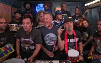 Οι Metallica  με καραμούζες και τυμπανάκια για πιτσιρίκια
