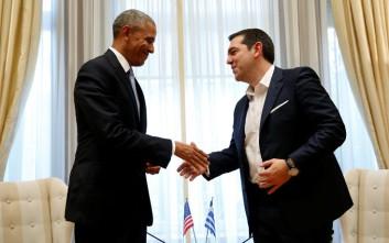Η συνάντηση Τσίπρα-Ομπάμα μέσα από τον φωτογραφικό φακό