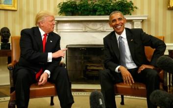 Το «πολύ ωραίο» τηλεφώνημα του Ομπάμα στον Τραμπ