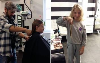 Εννιάχρονος δωρίζει τα μαλλιά του σε παιδιά με καρκίνο