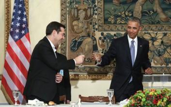 Το δείπνο για τον Ομπάμα μέσα από τον φωτογραφικό φακό