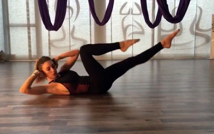 Πρωινή γυμναστική με την Αθηνά Οικονομάκου