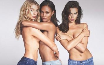 Σφιχταγκαλιάζονται τα τόπλες αγγελάκια της Victoria's Secret