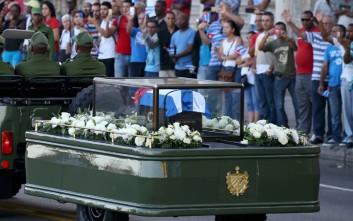Το τελευταίο ταξίδι του Φιντέλ Κάστρο πριν την ταφή
