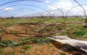 Ανεμοστρόβιλος σάρωσε 40 στρέμματα θερμοκηπίων στην Ηλεία