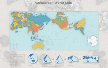 Ο χάρτης που δείχνει το πραγματικό μέγεθος ηπείρων και χωρών