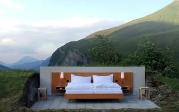 Απολαύστε τον ύπνο σας στο ελβετικό ξενοδοχείο χωρίς τοίχους