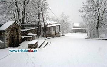 Χιόνισε στα ορεινά του νομού Τρικάλων