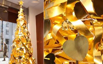Ένα χριστουγεννιάτικο δέντρο από ατόφιο χρυσάφι