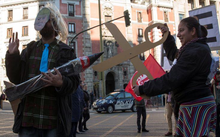 Χιλιάδες διαδηλωτές στους δρόμους της Μαδρίτης κατά της λιτότητας