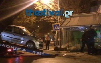 Εκτροπή οχήματος στην ανατολική Θεσσαλονίκη