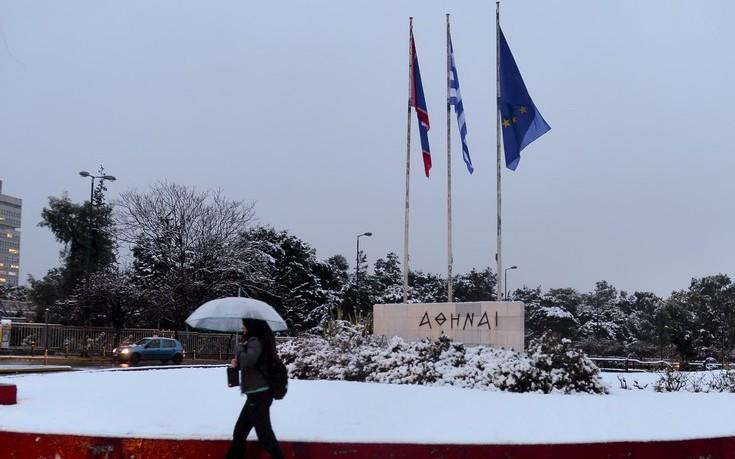 Αποτέλεσμα εικόνας για αθηνα χιονι
