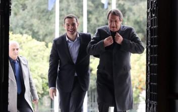 Τηλεφωνική επικοινωνία Τσίπρα και Αναστασιάδη για την επίσκεψη Ερντογάν στην Αθήνα