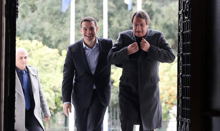 Ολοκληρώθηκε η συνάντηση Τσίπρα - Αναστασιάδη για το Κυπριακό