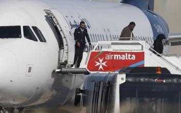 Ελεύθεροι επιβάτες του αεροσκάφους στη Μάλτα