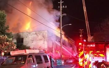 Φόβοι για περισσότερα θύματα από την πυρκαγιά σε αποθήκη στην Καλιφόρνια