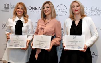 Σε τρεις νέες γυναίκες επιστήμονες τα ελληνικά βραβεία 2016 L'Oréal - UNESCO