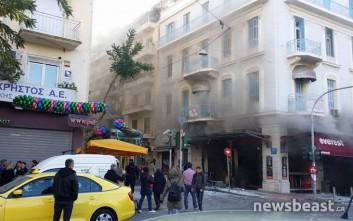 Βίντεο λίγα λεπτά από την έκρηξη στην πλατεία Βικτωρίας