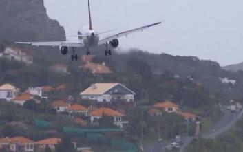 Προσγείωση αεροπλάνου για… γερά νεύρα