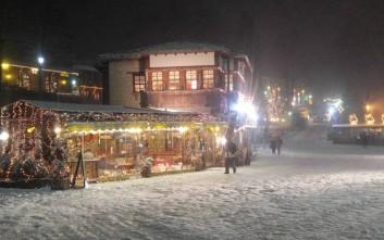 Άσπρισε ο χριστουγεννιάτικος στολισμός στο Μέτσοβο