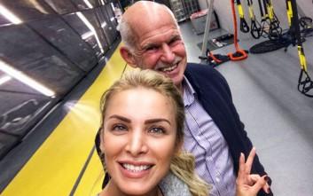 Όταν η Καινούργιου συνάντησε τον Γιώργο Παπανδρέου στο γυμναστήριο