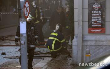 Φωτογραφίες και βίντεο από την έκρηξη στην πλατεία Βικτωρίας