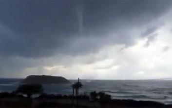 Υδροστρόβιλος στην Κρήτη