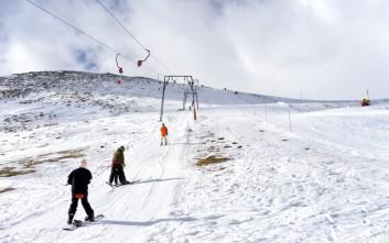 Κλειστό λόγω χιονοθύελλας το χιονοδρομικό Βόρας - Καϊμάκτσαλαν