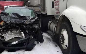 Καραμπόλα με πάνω από 40 οχήματα στο Μίσιγκαν