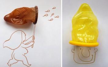 Τέχνη με προφυλακτικά