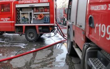Φορτηγό τυλίχθηκε στις φλόγες στην εθνική Αθηνών - Λαμίας