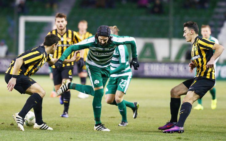 Άσφαιροι Παναθηναϊκός και ΑΕΚ έμειναν στο 0-0