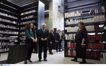Τη Βιβλιοθήκη της Ανωτάτης Σχολής Καλών Τεχνών εγκαινίασε ο Παυλόπουλος
