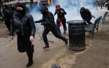 Συγκρούσεις στις πορείες κατά του Τραμπ στην Ουάσινγκτον