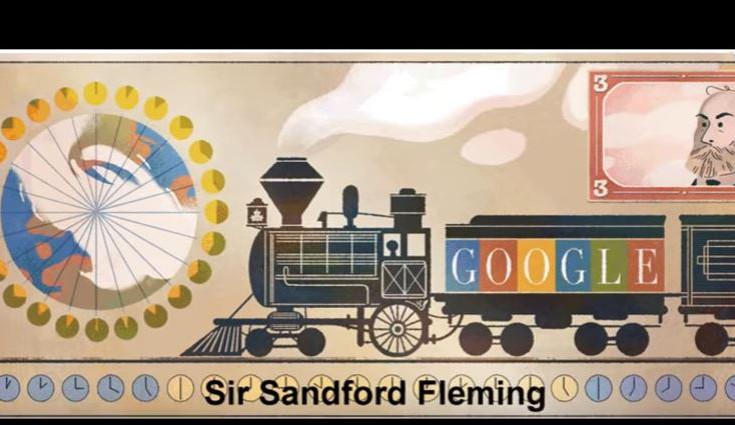 Σάντφορντ Φλέμινγκ, η Google τιμάει τον σκωτσέζο, για την ώρα, τον σιδηρόδρομο και το γραμματόσημο